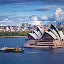 Veduta di Sydney e dell'opera