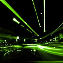 Astratto di strada verde