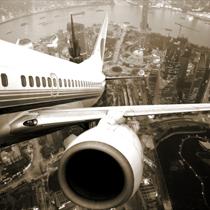 Vista della città dall'aereo