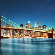 Brooklyn bridge di notte