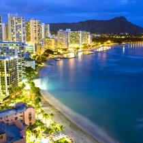 Spiaggia Waikiki nelle Hawaii