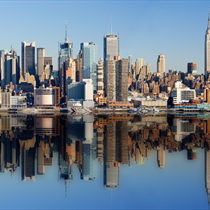 Skyline di New York di giorno