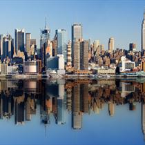 Skyline di New York di giorno