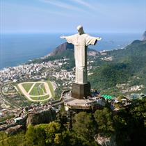 Vista aerea del Cristo Redentore