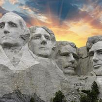 Monte Rushmore al tramonto