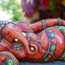 Statua di un dio indiano