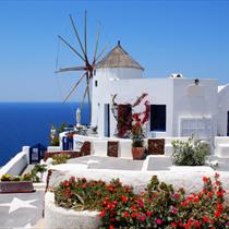 Mulino a vento a Santorini