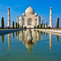 Primo piano del Taj Mahal