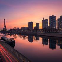Torre Eiffel al crepuscolo