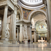Interno Pantheon a Parigi