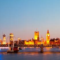Monumenti di Londra in notturna