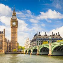 Veduta del Big Ben e del Palazzo di Westminster