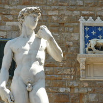 Il David di Michelangelo a Firenze