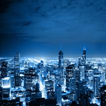 Vista aerea di Chicago