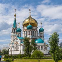 Vista di cattedrale russa