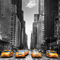 Taxi in coda a New York