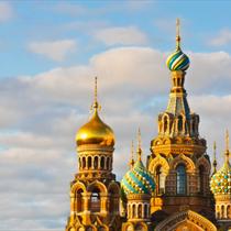 Vista della chiesa di San Pietroburgo