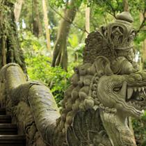 Scultura antica di pietra asiatica