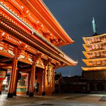 Sensoji temple di notte a Pechino