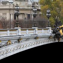 Dettaglio del Ponte Alexandre III a Parigi