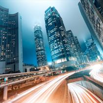 Hong Kong e le scie di luce