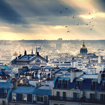 Vista di Parigi da Montmatre