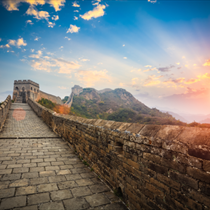 Scorcio di muraglia cinese