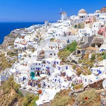 Architettura bianca a Santorini