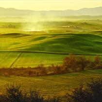 Panorama mattiniero in Toascana