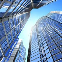 Prospettiva dei grattacieli