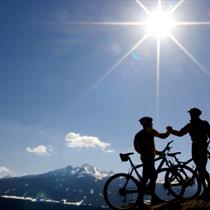 Amici in mountainbike