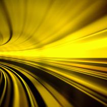 Tunnel di luce giallo