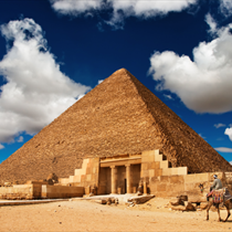 Vista di piramide egizia