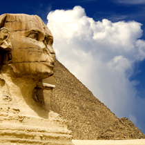 Volto della sfinge d'Egitto