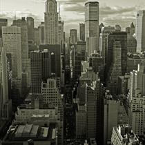 Veduta dei grattacieli di New York