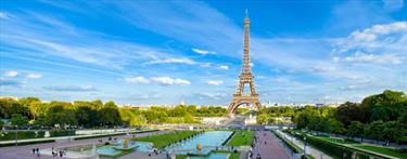 Panorama del parco e della Tour Eiffel
