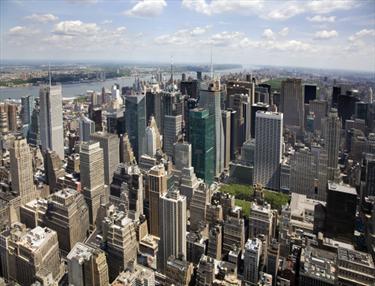 Vista panoramica di Manhattan