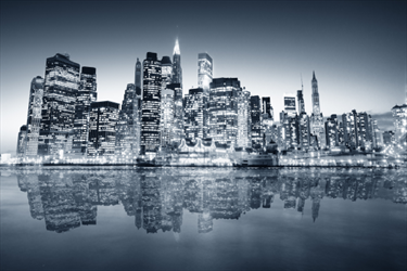 Skyline di New York Manhattan