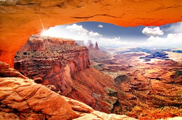 Vista da un canyon