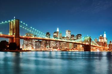 Brooklyn bridge di notte