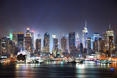 Skyline di New York Times Square