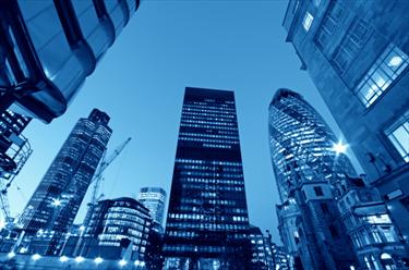 Grattacieli illuminati a Londra
