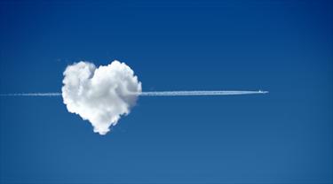 Nuvola a forma di cuore