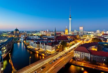 Vista di Berlino su Alexanderplatz