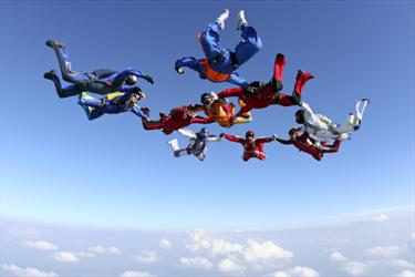 Paracadutismo, lancio di gruppo