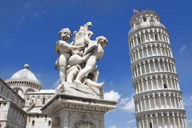Veduta della torre di Pisa