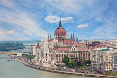Vista di Budapest e della Basilica