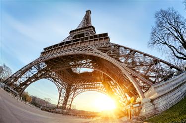 Tour Eiffel all'alba