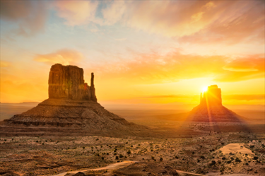 Monument Valley al tramonto