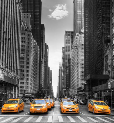 Taxi in coda a New York